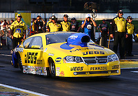 May 31, 2013; Englishtown, NJ, USA: NHRA pro stock driver Jeg Coughlin during qualifying for the Summer Nationals at Raceway Park. Mandatory Credit: Mark J. Rebilas-