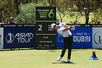 Lucas Herbert (AUS) in action on the 2nd during Round 3 of the ISPS Handa World Super 6 Perth at Lake Karrinyup Country Club on the Saturday 10th February 2018.<br /> Picture:  Thos Caffrey / www.golffile.ie<br /> <br /> All photo usage must carry mandatory copyright credit (&copy; Golffile | Thos Caffrey)