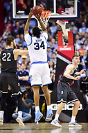 Washington, DC - MAR 11, 2018: Rhode Island Rams forward Andre Berry (34) shoots an open jump shot during the Atlantic 10 men's basketball championship between Davidson and Rhode Island at the Capital One Arena in Washington, DC. (Photo by Phil Peters/Media Images International)