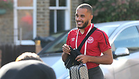Bryan Mbeumo of Brentford arrives at the ground ahead of kick-off during Brentford vs Swansea City, Sky Bet EFL Championship Play-Off Semi-Final 2nd Leg Football at Griffin Park on 29th July 2020