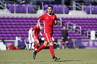 Orlando, Florida - Wednesday January 17, 2018: Giovanni Godoy. Match Day 3 of the 2018 adidas MLS Player Combine was held Orlando City Stadium.