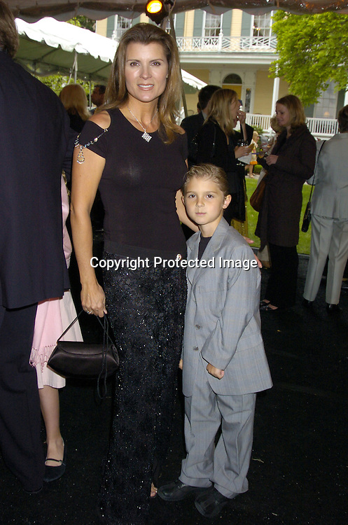 Kimberlin Brown and son Nick..at the Pre Daytime Emmy Awards Party at Gracie Mansion on May 19, 2005. ..Photo by Robin Platzer, Twin Images