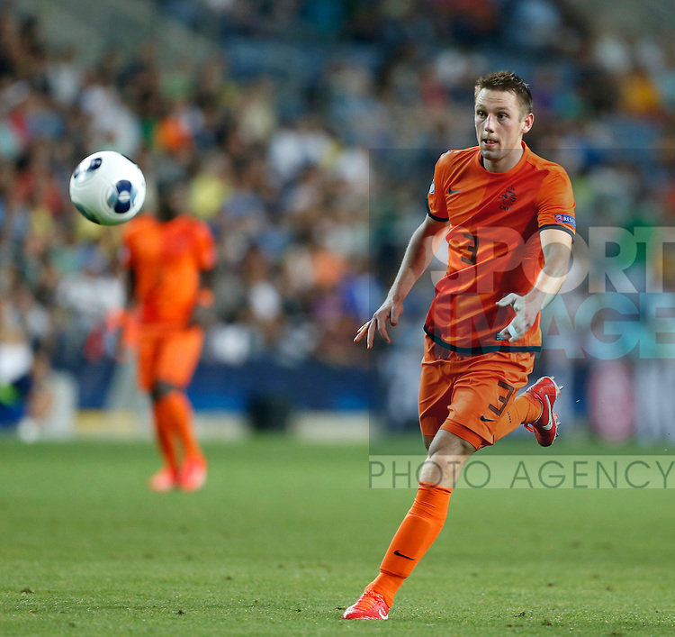 Holland's Stefan de Vrij in action<br /> <br /> - Netherlands U21 vs Germany U21  - UEFA U21 Championship 2013  - Ha Moshava Stadium  - Petah Tikva - Israel - 05/06/2013  - Pic David Klein/Sportimage