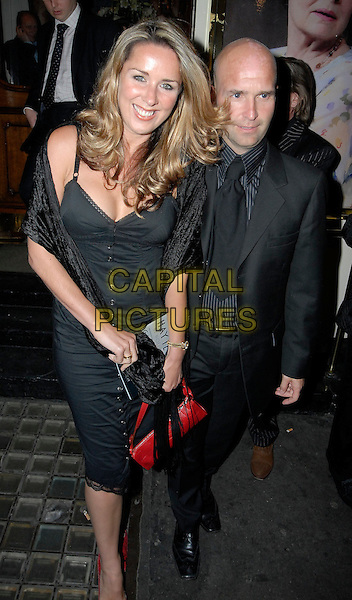 CLAIRE SWEENEY.Leaving Theatre Royal, London, UK..April 26th, 2006.Ref: SW.full length black dress.www.capitalpictures.com.sales@capitalpictures.com.©Capital Pictures.