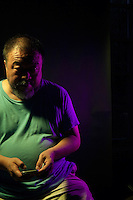 Chinese artist Ai Weiwei poses for a portrait. July 6th, 2015. Beijing, China.