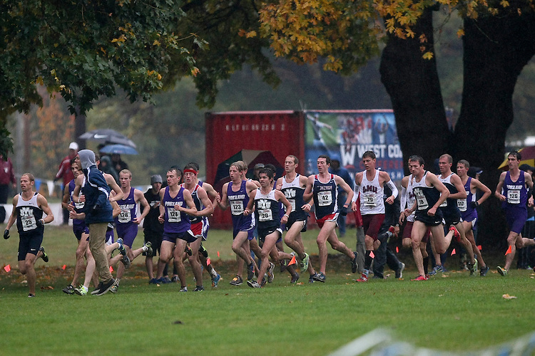 October 27, 2012; Portland, OR, USA; BYU Cougars, Portland Pilots, Gonzaga Bulldogs Loyola Marymount Lions during the WCC Cross Country Championships at Fernhill Park.