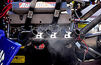 Sept. 15, 2012; Concord, NC, USA: NHRA top fuel dragster driver Brandon Bernstein during qualifying for the O'Reilly Auto Parts Nationals at zMax Dragway. Mandatory Credit: Mark J. Rebilas-