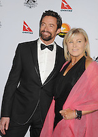 LOS ANGELES, CA - JANUARY 12: Hugh Jackman and Deborra-Lee Furness attend the 2013 G'Day USA Black Tie Gala at JW Marriott Los Angeles at L.A. LIVE on January 12, 2013 in Los Angeles, California.PAP0101387.G'Day USA Black Tie Gala PAP0101387.G'Day USA Black Tie Gala