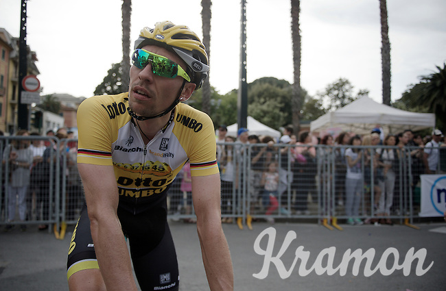 Robert Wagner (DEU/LottoNL-Jumbo) at the finish<br /> <br /> 2015 Giro<br /> stage 3: Rapallo - Sestri Levante (136km)