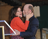 Actor Ed Harris &amp; Marcia Gay Harden on Hollywood Boulevard where he was honored with the 2,546th star on the Hollywood Walk of Fame.<br /> March 13, 2015  Los Angeles, CA<br /> Picture: Paul Smith / Featureflash