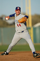 John Hudgins of the Stockton Ports pitches during a 2004 season California League game against the High Desert Mavericks at Mavericks Stadium in Adelanto, California. (Larry Goren/Four Seam Images)