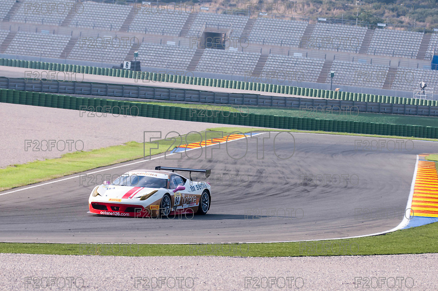 VALENCIA, SPAIN - OCTOBER 2: Bjorn Grossmann during Valencia Ferrari Challenge 2015 at Ricardo Tormo Circuit on October 2, 2015 in Valencia, Spain