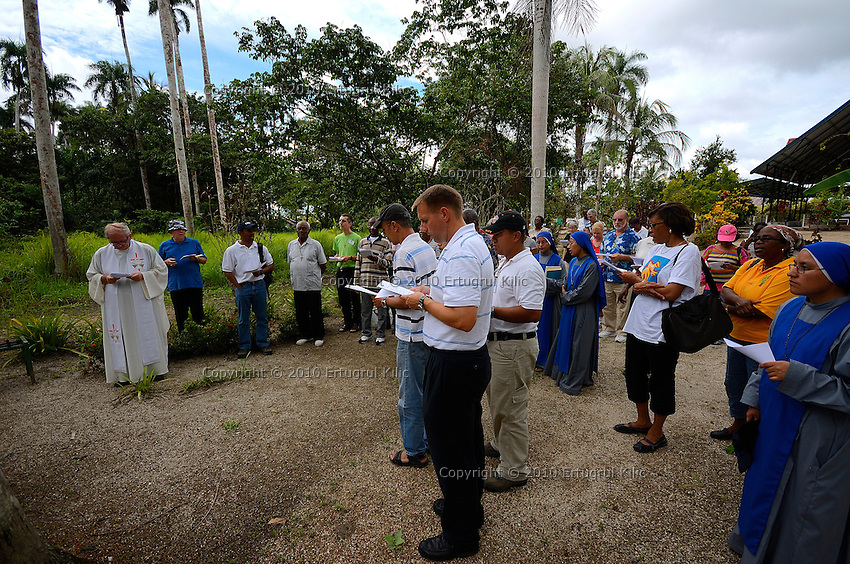 """Annual meeting of the Pontifical Mission Societies (PMS) Directors - Dutch Antilles, in Paramaribo, Suriname.....Theme: """"Founders of the Pontifical Mission Societies: Their Spirituality our Inspiration"""". ....Excursion to pilgrimage site Batavia"""