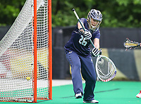College Park, MD - May 19, 2018: Navy Ingrid Boyum (26) could not  make the save during the quarterfinal game between Navy and Maryland at  Field Hockey and Lacrosse Complex in College Park, MD.  (Photo by Elliott Brown/Media Images International)