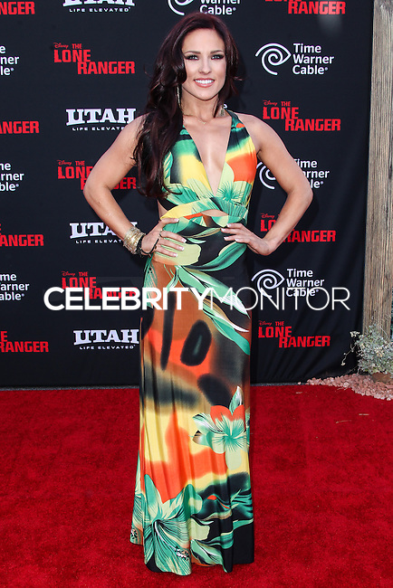 ANAHEIM, CA - JUNE 22: Sharna Burgess attends The World Premiere of Disney/Jerry Bruckheimer Films' 'The Lone Ranger' at Disney California Adventure Park on June 22, 2013 in Anaheim, California. (Photo by Celebrity Monitor)