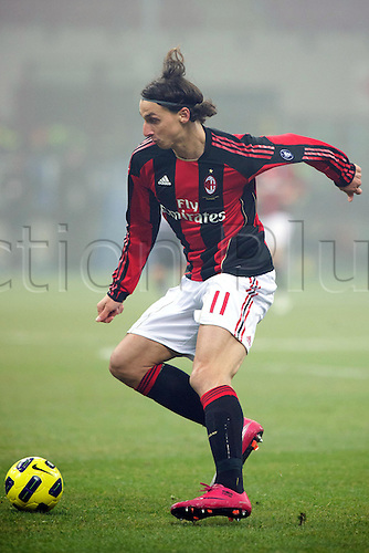 01.02.2011 Zlatan Ibrahimovic (Milan),  Football : Italian Serie A 2010-2011, match between  A.C. Milan (0-0) S.S. Lazio at San Siro Meazza Stadium, Milan, Italy,