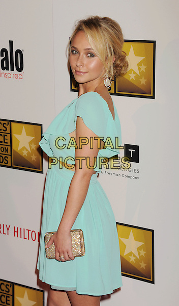 Hayden Panettiere.The 2nd Annual Critics' Choice Television Awards held at The Beverly Hilton in Beverly Hills, California, USA..June 18th, 2012.half length dress clutch bag gold cut out away sides blue side .CAP/ROT/TM.©Tony Michaels/Roth Stock/Capital Pictures