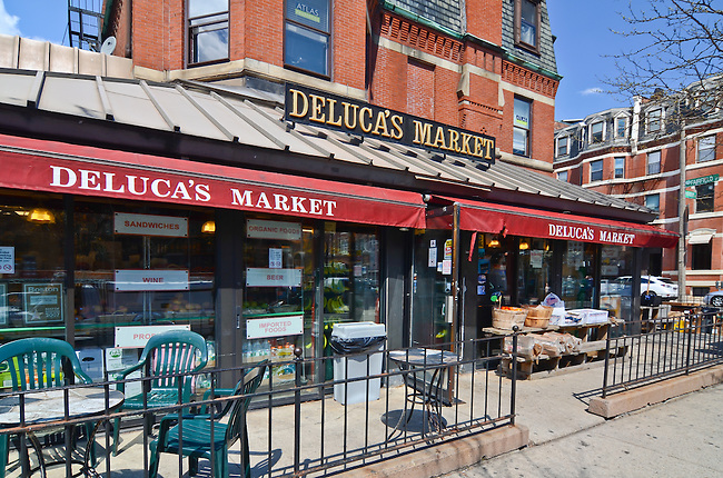 Delucas Market in Boston, Massachusettes was made famous by it's inclusion in a children's story,