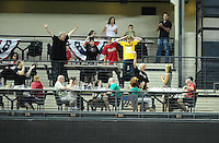 May 30, 2011; Phoenix, AZ, USA; Arizona Diamondbacks fans react after Justin Upton (not pictured) hit a two run home run to the upper deck in the seventh inning against the Florida Marlins at Chase Field. Mandatory Credit: Mark J. Rebilas-