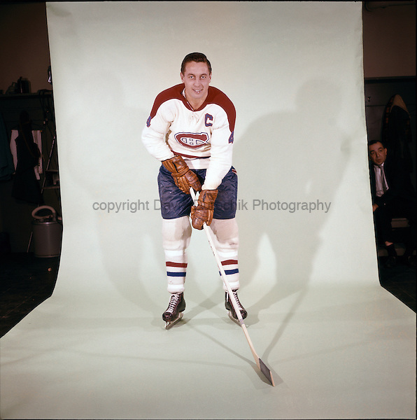 PORTRAIT OF JEAN BELIVEAU of the Montreal Canadiens, believed to be from the 1966 season
