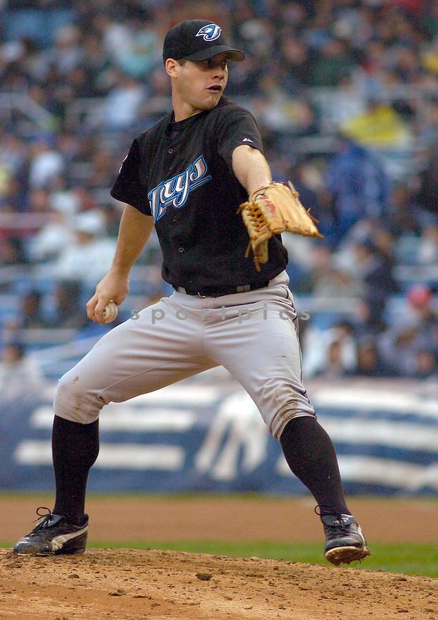 Dave Bush during the Toronto Blue Jays v. New York Yankees game on April 30, 2005.....Blue Jays lost 3-4.....Chris Bernacchi  / SportPics....