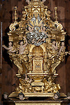 Baroque altarpiece, Capilla de la comunion, Church of Saint Justa and Saint Rufina, Orihuela, Alicante province, Spain