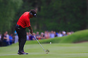 Thongchai Jaidee of Thailand in action during the final round of the BMW PGA Championship played over the West Course at the Wentworth Club on 24th May 2015 in Virginia Water, Surrey, England. Picture Credit / Phil INGLIS