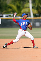 Sterling Guzman participates in the International Prospect League Showcase at the New York Yankees academy in Boca Chica, Dominican Republic on January 24, 2014 (Bill Mitchell)