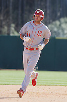 Drew Poulk of the North Carolina State Wolfpack running during  a game against  the Coastal Carolina University Chanticleers at the Baseball at the Beach Tournament held at BB&T Coastal Field in Myrtle Beach, SC on February 28, 2010.