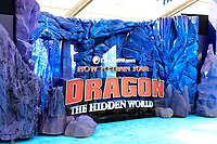 "LOS ANGELES - FEB 9:  Poster, General Atmosphere at the ""How To Train Your Dragon: The Hidden World""  Premiere at the Village Theater on February 9, 2019 in Westwood, CA"