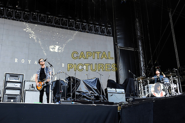 MILTON KEYNES, ENGLAND - SEPTEMBER 6: Mike Kerr and Ben Thatcher of 'Royal Blood' performing at Milton Keynes Bowl on September 6, 2015 in Milton Keynes, England.<br /> CAP/MAR<br /> &copy; Martin Harris/Capital Pictures
