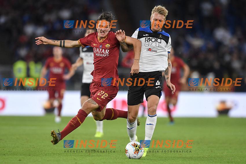 Nicolo Zaniolo of Roma and Simon Kjaer of Atalanta<br /> Roma 25-9-2019 Stadio Olimpico <br /> Football Serie A 2019/2020 <br /> AS Roma - Atalanta Bergamasca Calcio <br /> Foto Antonietta Baldassarre / Insidefoto