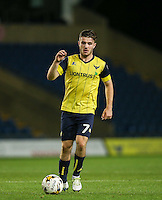 Dan Crowley of Oxford United during the The Checkatrade Trophy match between Oxford United and Exeter City at the Kassam Stadium, Oxford, England on 30 August 2016. Photo by Andy Rowland / PRiME Media Images.