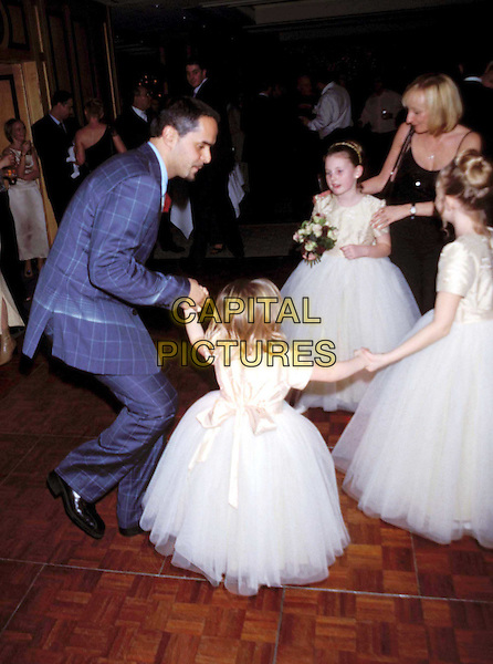 MICHAEL GRECO..Ref: 11325..dancing, wedding, bridesmaids, children, full length, full-length..www.capitalpictures.com..sales@capitalpictures.com..©Capital Pictures..