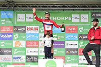 Picture by Allan McKenzie/SWpix.com - 05/09/2017 - Cycling - OVO Energy Tour of Britain -  Stage 3 Normanby Hall Country Park to Scunthorpe - JLT Condor's Graham Briggs and son collect the Eisberg Sprint jersey after stage 3 of the OVO Energy Tour of Britain.