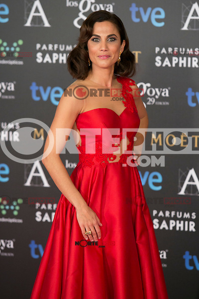 Toni Acosta attend the 2015 Goya Awards at Auditorium Hotel, Madrid,  Spain. February 07, 2015.(ALTERPHOTOS/)Carlos Dafonte) /NORTEphoto.com