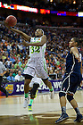 Apr 7, 2013; Jewell Loyd takes a shot against Connecticut during the semifinals of the 2013 NCAA women's basketball Final Four at the New Orleans Arena. Connecticut defeated Notre Dame 83 to 65. Photo by Barbara Johnston/ University of Notre Dame