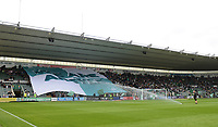 Plymouth Argyle fans display a giant banner with the words 'We Are Argyle' before kick off<br /> <br /> Photographer Kevin Barnes/CameraSport<br /> <br /> The EFL Sky Bet League One - Plymouth Argyle v Blackpool - Saturday 15th September 2018 - Home Park - Plymouth<br /> <br /> World Copyright &copy; 2018 CameraSport. All rights reserved. 43 Linden Ave. Countesthorpe. Leicester. England. LE8 5PG - Tel: +44 (0) 116 277 4147 - admin@camerasport.com - www.camerasport.com