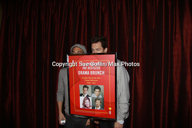 """Drama Brunch - The Young & The Restless stars Greg Rikaart & Michael Muhney came for the fans with a brunch and photos during the Soap Opera Festivals Weekend - """"All About The Drama"""" on March 25, 2012 at Bally's Atlantic City, Atlantic City, New Jersey.  (Photo by Sue Coflin/Max Photos)"""