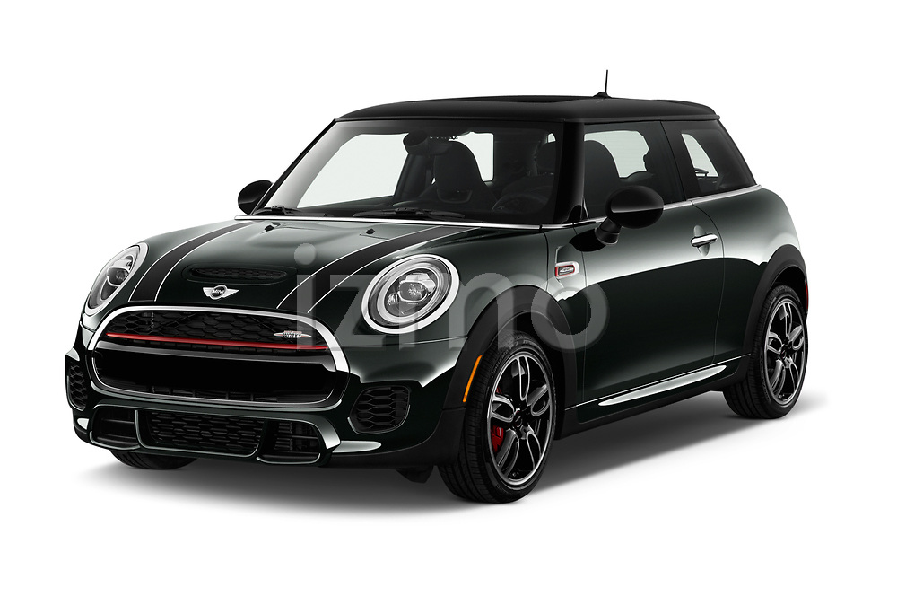 2019 MINI Cooper John-Cooper-Works-Hardtop Door Hatchback Angular Front stock photos of front three quarter view