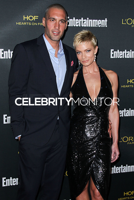 WEST HOLLYWOOD, CA, USA - AUGUST 23: Hamzi Hijazi, Jaime Pressly arrives at the 2014 Entertainment Weekly Pre-Emmy Party held at the Fig & Olive on August 23, 2014 in West Hollywood, California, United States. (Photo by Xavier Collin/Celebrity Monitor)