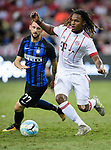 Bayern Munich Midfielder Renato Sanches (R) plays against FC Internazionale Midfielder Marcelo Brozovic (L) during the International Champions Cup match between FC Bayern and FC Internazionale at National Stadium on July 27, 2017 in Singapore. Photo by Weixiang Lim / Power Sport Images