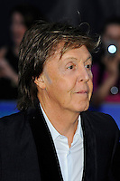 LONDON, ENGLAND - SEPTEMBER 15: Sir Paul McCartney attending the 'The Beatles: Eight Days A Week - The Touring Years'  World Premiere at Odeon Cinema, Leicester Square on September 15, 2016 in London, England.<br /> CAP/MAR<br /> &copy;MAR/Capital Pictures /MediaPunch ***NORTH AND SOUTH AMERICAS ONLY***