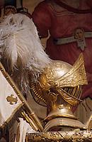 Europe/France/Aquitaine/64/Pyrénées-Atlantiques/Pau: Le musée du château - Détail casque et panache d'Henri IV