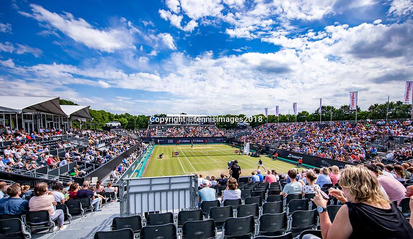 Den Bosch, Netherlands, 16 June, 2018, Tennis, Libema Open, overall view<br /> Photo: Henk Koster/tennisimages.com