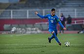 27th March 2018, Karadjorde Stadium, Novi Sad, Serbia; Under 21 International Football Friendly, Serbia U21 versus Italy U21; Midfielder Rolando Mandragora of Italy crosses into the Serbia box