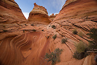 Inside view of North Teepees, North Coyote Buttes, near the Arizona-Utah border, October 2007