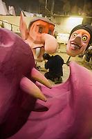 Europe/France/Provence-Alpes-Côte d'Azur/06/Alpes-Maritimes/Nice:  La Maison du Carnaval - Atelier de fabrication des chars