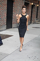 Eva Longoria wearing a classic little black Victoria Beckham dress at ''Late Night with David Letterman'', New York, 09.05.2012...Credit: Jackman/face to face /MediaPunch Inc. ***FOR USA ONLY***