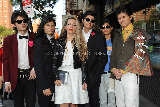 WWW.ACEPIXS.COM<br /> June 9, 2015 New York City<br /> <br /> Govinda Angulo,Bhagava, Angulo,Crystal Moselle,Mukunda Angulo,Krsna Angulo and Narayana Angulo attending a screening for 'The WolfPack' at The Sunshine Landmark Cinema on June 9, 2015 in New York City.<br /> <br /> Please byline: Kristin Callahan/ACE<br /> Tel: (646) 769 0430<br /> e-mail: info@acepixs.com<br /> web: http://www.acepixs.com